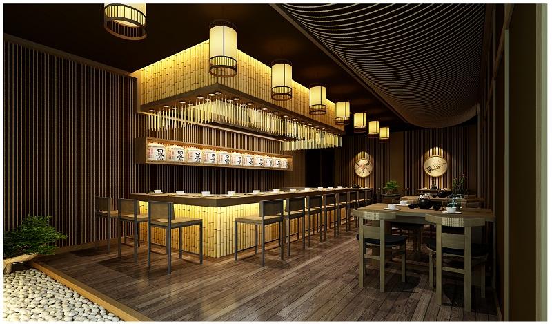 Thiết kế nhà hàng Nhật với hệ thống ánh sáng ấn tượng