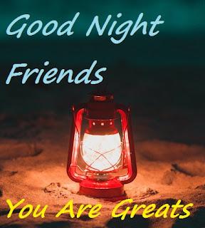 hi friends good night images