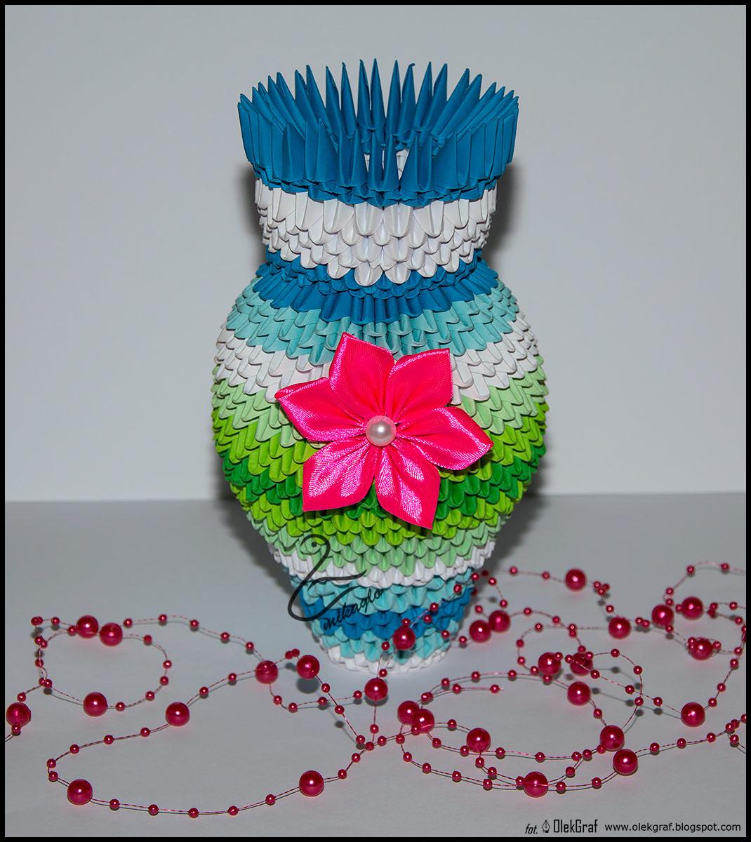 Vase 3d Origami Diagram: Mikaglo: 205. Wazon Na Kalie / 3d Origami