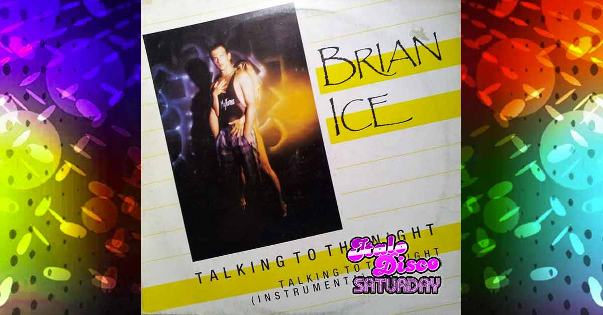 La copertina di ''Talking to the night'' di Brian Ice, pezzo italo disco anni '80