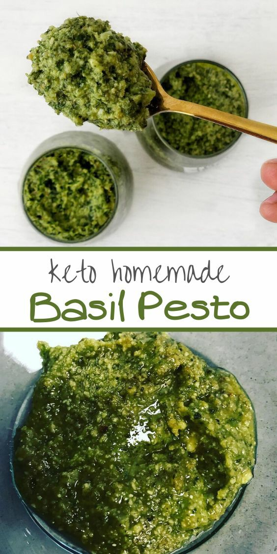 Keto Homemade Basil Pesto Sauce Recipe