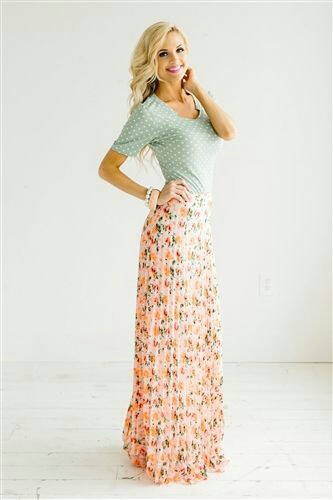 Floral maxi long skirt