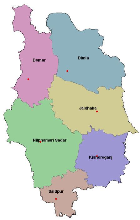 Nilphamari District Nilphamari District Map - Saidpur map