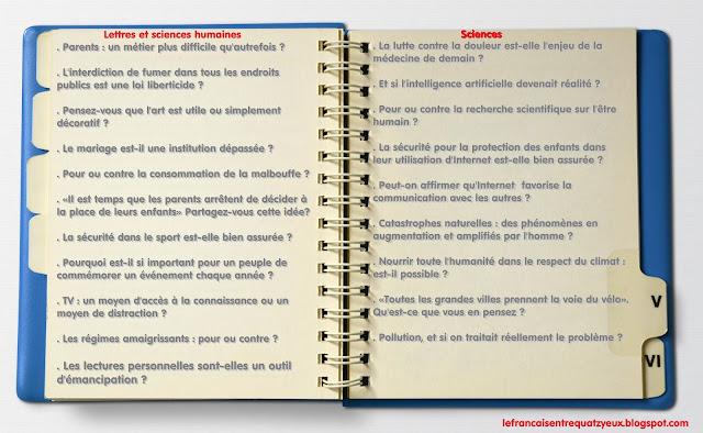 sujets rédaction dalf c1 exemples