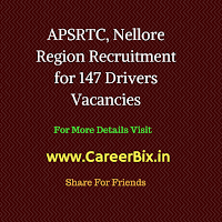 APSRTC, Nellore Region Recruitment for 147 Drivers Vacancies