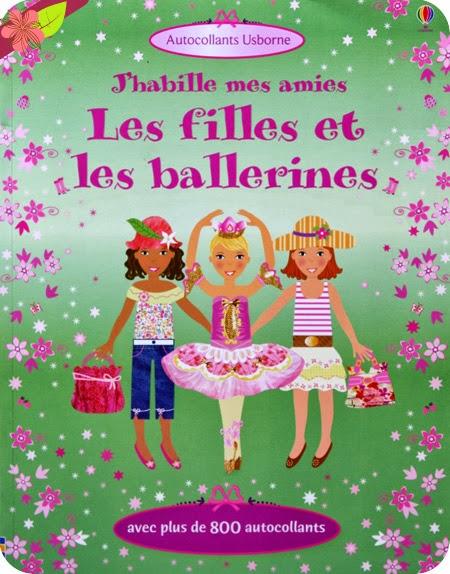 """""""J'habille mes amies : Les filles et les ballerines"""" éditions Usborne"""