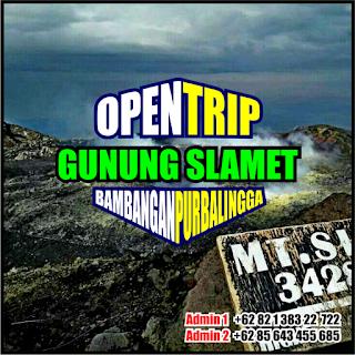 Open Trip Pendakian Gunung Slamet Via Bambangan Purbalingga Jawa Tengah 2H1M