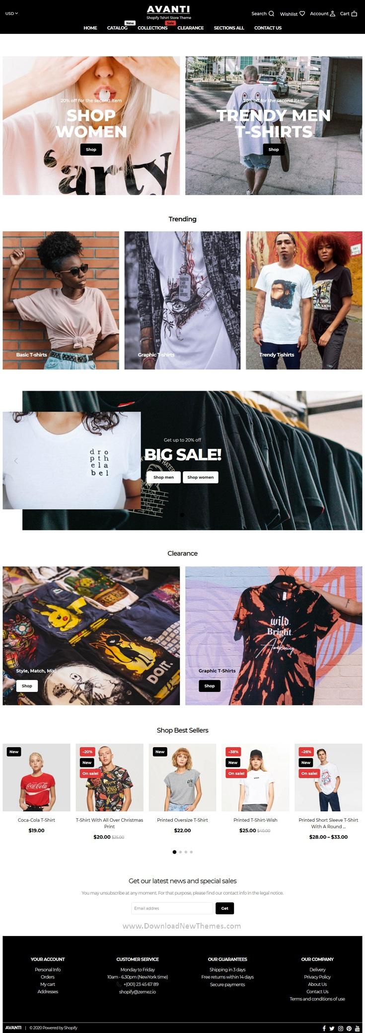 Tshirt Store Shopify Theme