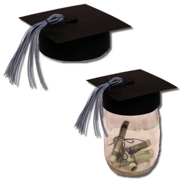 c73438d5858 Bits of Paper  Mason Jar Graduation Hat