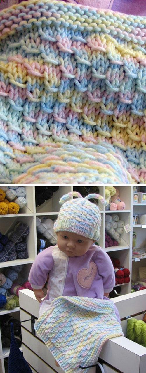 Dragon Baby Blanket - Easy Level Knitting Pattern