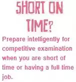 Prepare competitive examination intelligently when you are having full time job