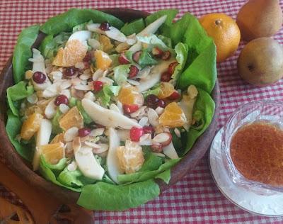 Orange & Pear Salad with Cranberries & Almonds