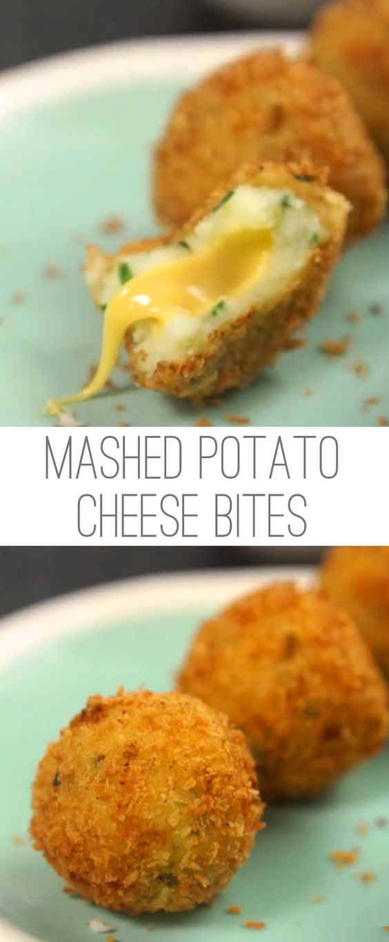 Best Mashed Potato Cheese Bites Recipe