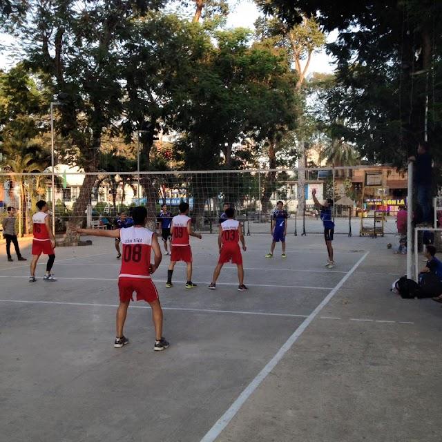 Sân chơi bóng chuyền cho nghành giáo dục TPHCM cũng rất hấp dẫn!