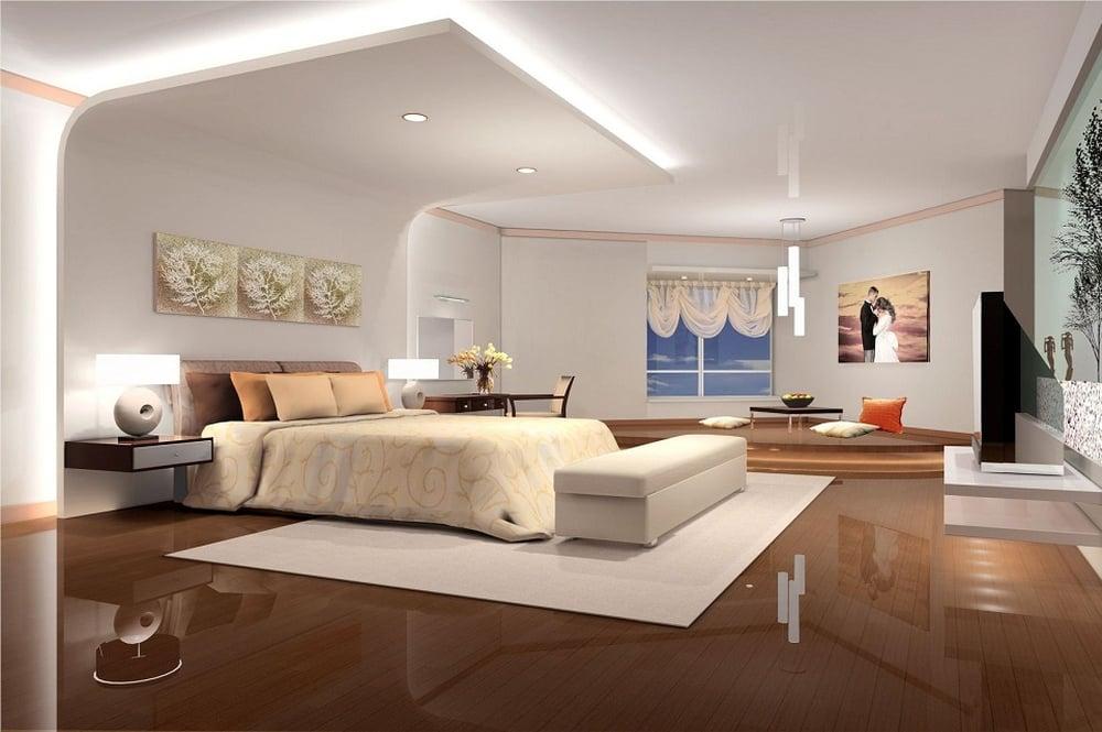4 طرق لتنسيق ديكورات جبس غرف النوم
