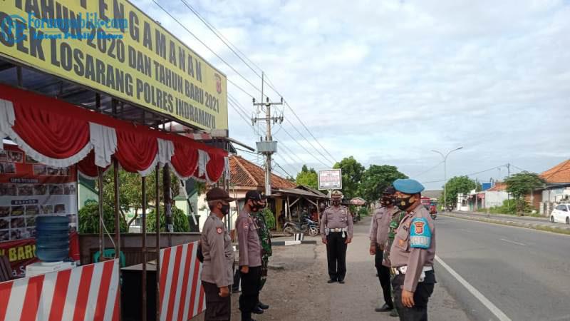 Polres Indramayu Bersama Kodim 0616 Giat Ops Lilin Lodaya 2020 Guna Keamanan Masyarakat