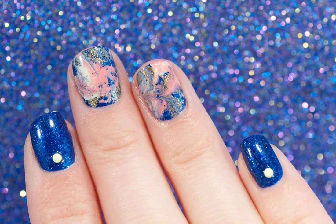 OPI Give Me Space Fluid Nail Art - Swirl Marble
