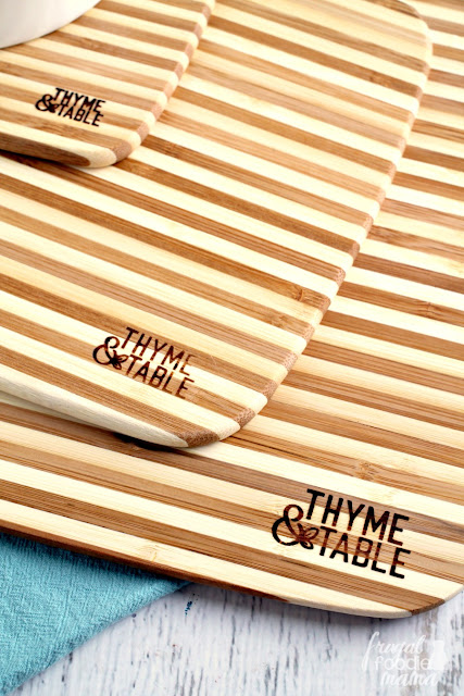 Core Home's bamboo cutting boards have always been a personal favorite of mine in the kitchen, but they have knocked it out of the park with these more stylish boards for their Thyme & Table line at Walmart.