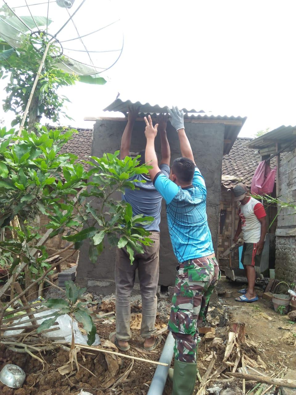 Rumah Sehat dan Bersih Berkat TMMD 106 Kodim Malang