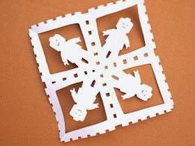 DIY lego men snowflakes