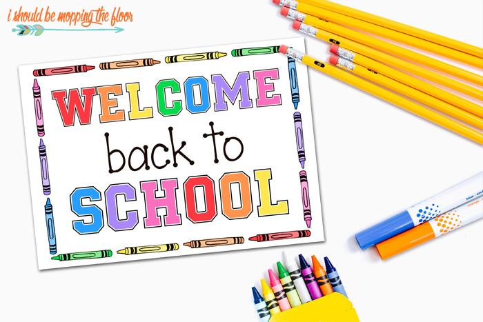 Free Welcome Back to School Printable