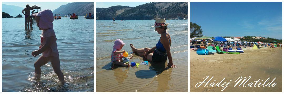 Chorvatsko, Rab, u moře s miminkem, moře a dítě, na dovolenou k moři s miminkem