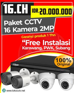 PAKET CCTV 16 KAMERA + INSTALASI | GARANSI PRODUK 1 TAHUN