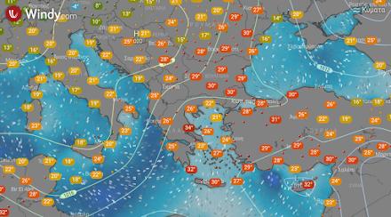 Τοπικές βροχές αύριο στα δυτικά και βόρεια από τις βραδυνές ώρες - Υψηλές θερμοκρασίες στα ανατολικά και νότια