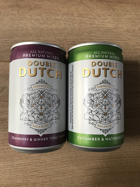 Double Dutch Cucumber & Watermelon / Cranberry & Ginger - 75p per can / £4.15 for a pack of 8 cans