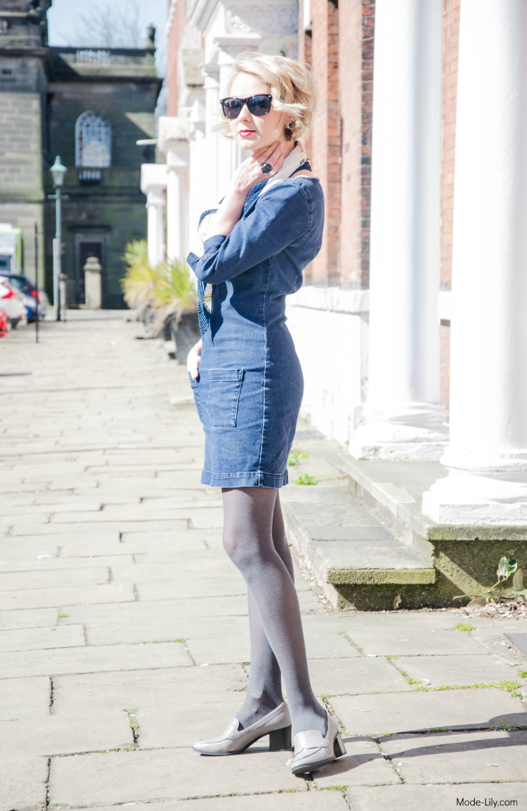 Outfit Post: Navy Style & Denim Dress