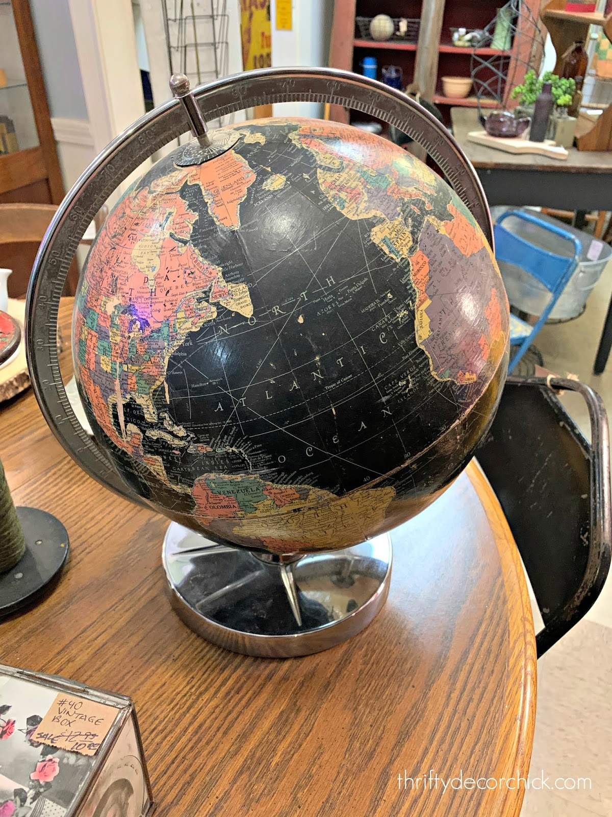 Decorating with vintage globes