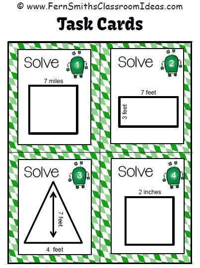 Fern Smith's Classroom Idea FREE Review with Area Arnie Task Cards