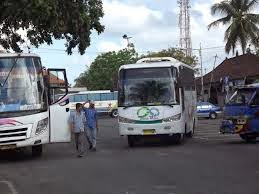 Ubung bus station is the biggest bus station in Bali
