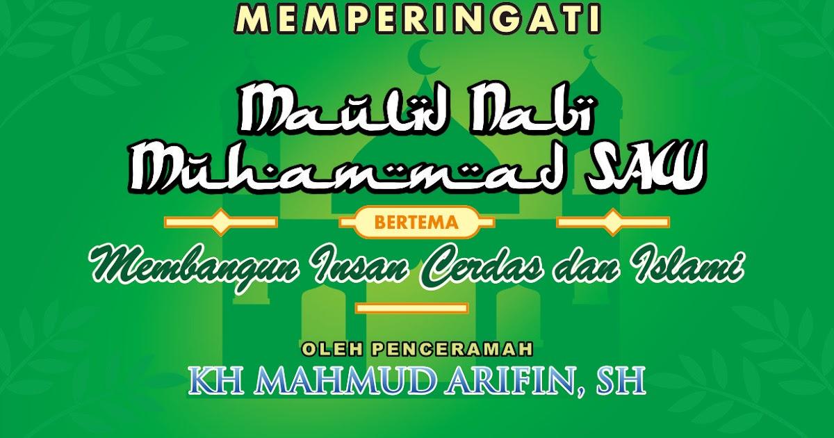 Contoh Template Banner Maulid Nabi Muhammad SAW [CDR] - Mas Vian