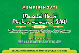 Contoh Template Banner Maulid Nabi Muhammad SAW [CDR]