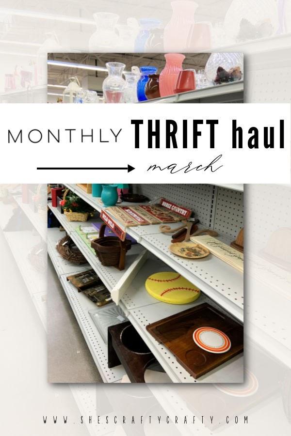 March Thrift Store Haul - Pinterest Pin