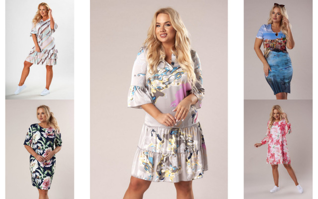 modele sukienek plus size z kolekcji fenii.pl