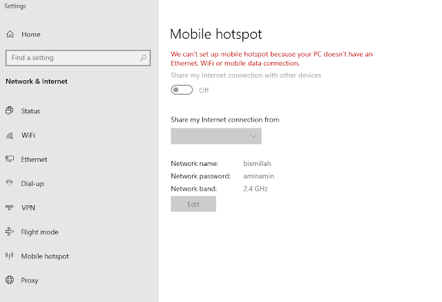 hotspot windows error