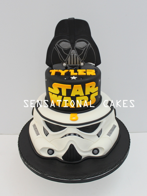 The Sensational Cakes 3tier Starwars Cake Singapore Storm Trooper