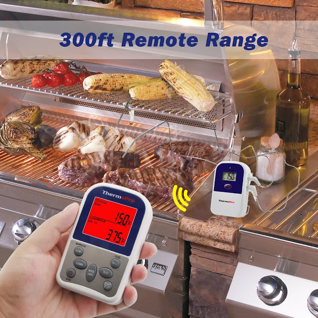 thermopro tp12 large lcd meat food thermometer