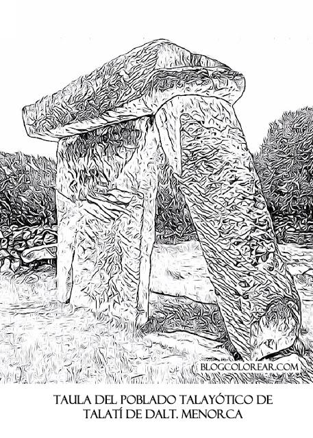 Taula del poblado talayótico de Talatí de Dalt. Menorca
