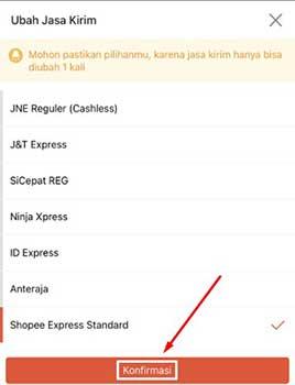 Cara Mengubah Opsi Pengiriman di Shopee
