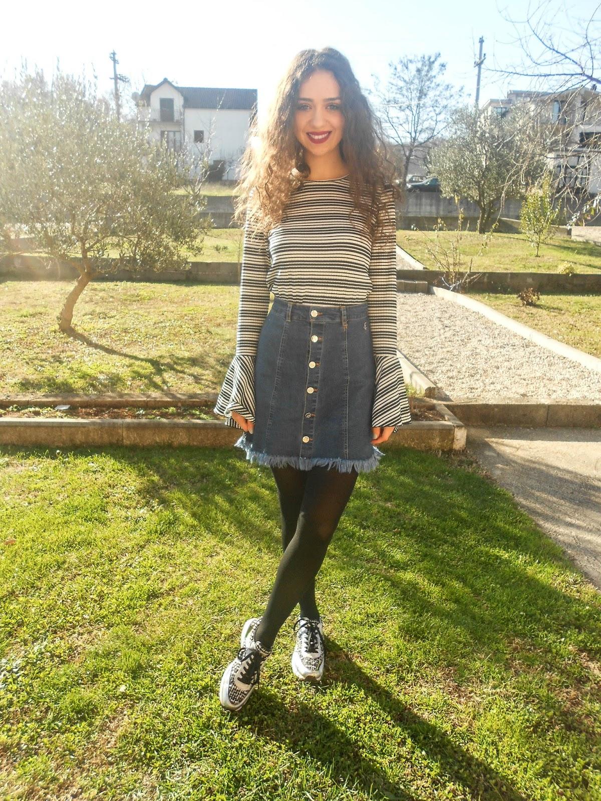 Zara bell sleeves