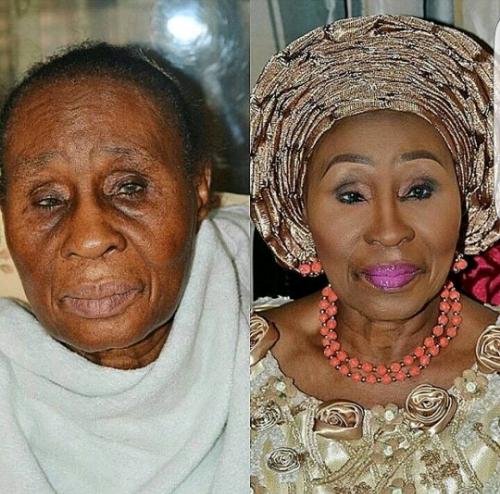 Grandma's face on Fleek!