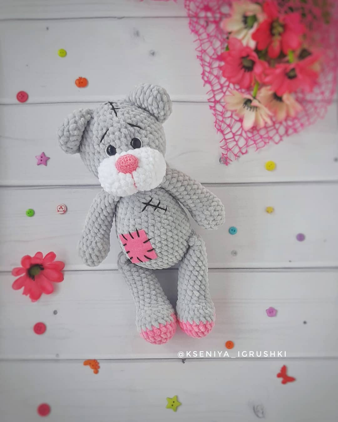 Сrochet plush Teddy Bear