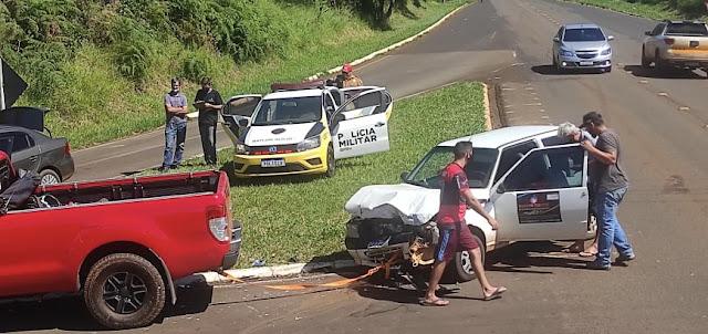 Dois acidentes são registrados na tarde de sábado em Manoel Ribas