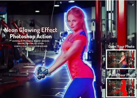 Action photoshop tạo hiệu ứng ánh sáng đèn neon tuyệt đẹp