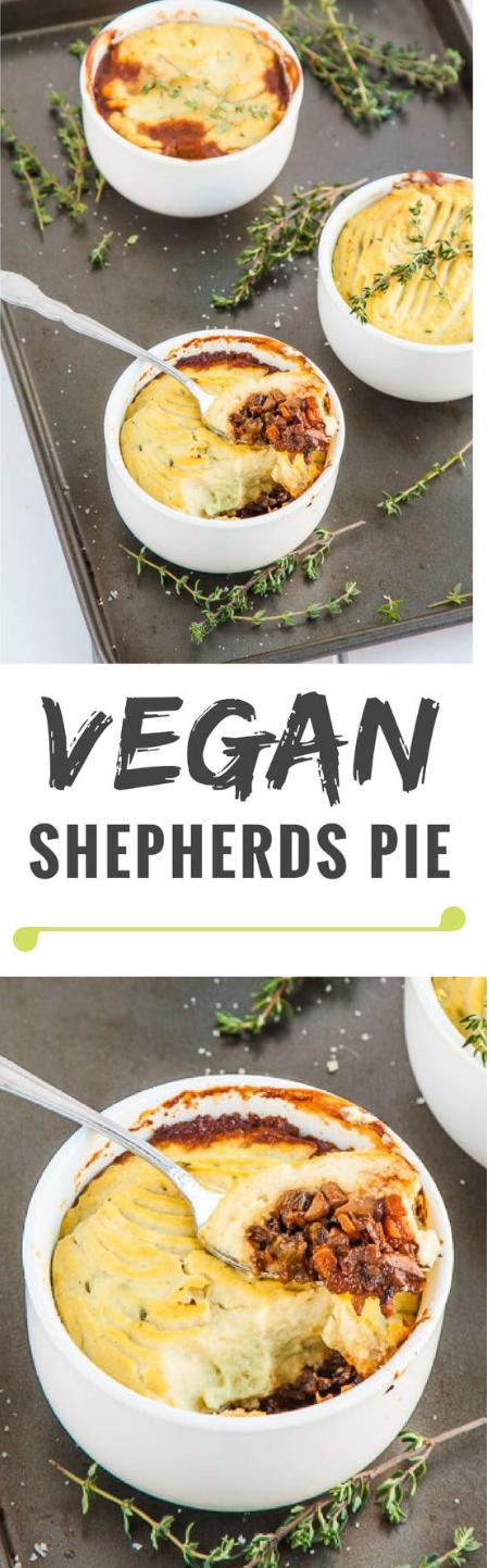 Mushroom and Cauliflower Vegan Shepherds Pie #diet #pie