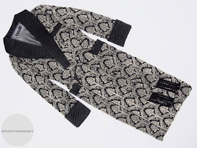 mens long dressing gown black paisley velvet quilted silk luxury robe extra large full length english style gentleman housecoat bathrobe victorian