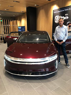 Ben Bruce Purchases Multi Million Naira Electric Car In USA
